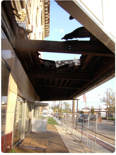Westmont Marquee with removed lower ceiling