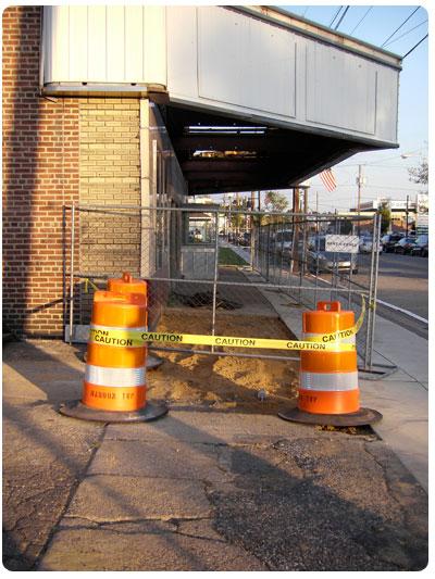 Westmont Theatre sidewalk